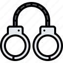 criminal, handcuffs, justice, law, police, policeman icon