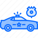 badge, cop, justice, law, machine, police icon
