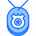 badge, justice, law, police, policeman, star icon