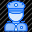 cap, cop, justice, law, police, policeman, uniform icon