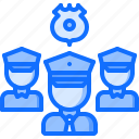 group, justice, law, police, policeman, team icon
