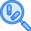 footprint, justice, law, magnifier, police, search, trail icon