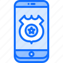 call, justice, law, phone, police, policeman icon
