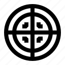 aim, cop, focus, goal, police, shot, target icon