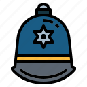 helmet, police, protection icon