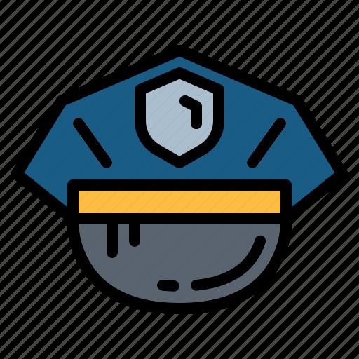 costume, hat, police icon