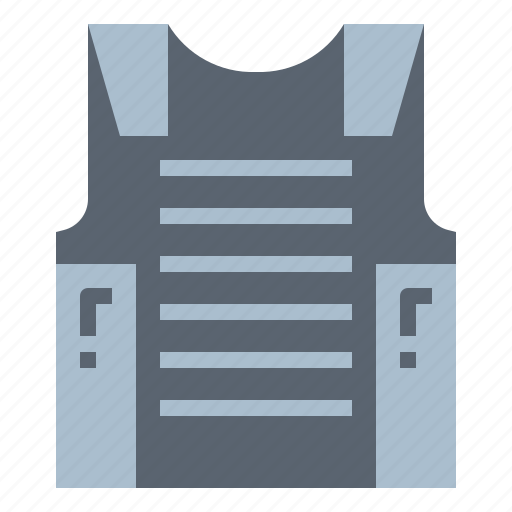 bulletproof, protection, shell, vest icon