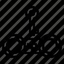 handcuffs, key, lock, police icon