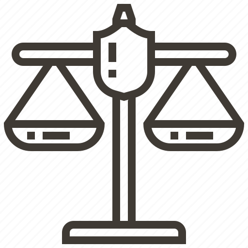 justice, law, police, policeman, scales, security icon