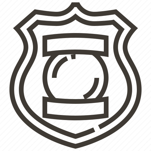 Badge, justice, law, police, policeman, security icon - Download on Iconfinder