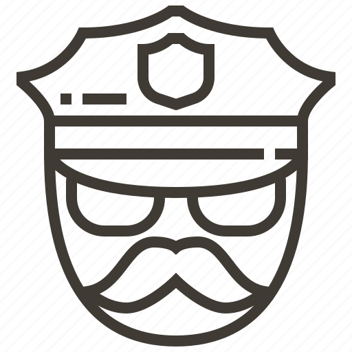 justice, law, police, policeman, security icon