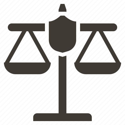 justice, law, police, policeman, protection, scales, security icon