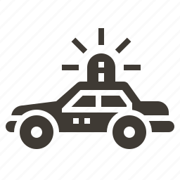 car, justice, law, police, policeman, protection, security icon