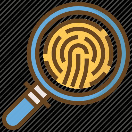 cop, finger print, justice, law, police, policeman, security icon