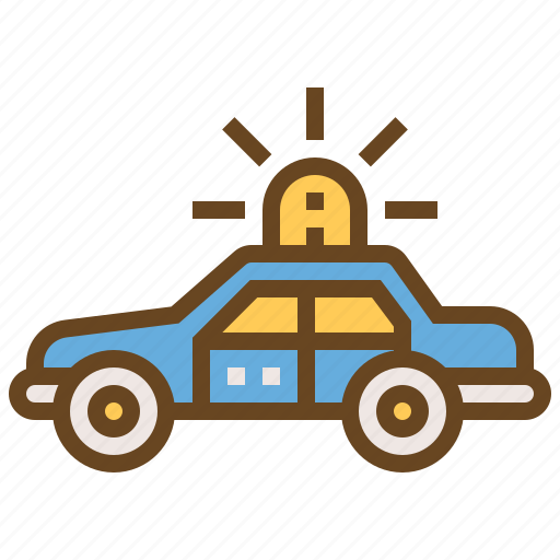 car, cop, justice, law, police, policeman, security icon