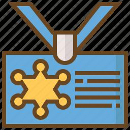 card, cop, justice, law, police, policeman, security icon