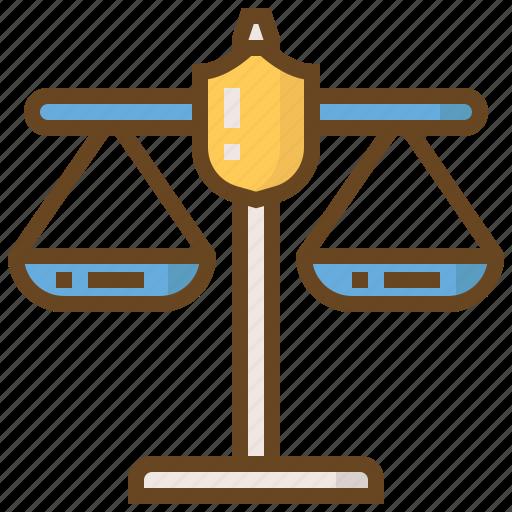 cop, justice, law, police, policeman, scales, security icon