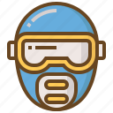 cop, justice, law, mask, police, policeman, security icon
