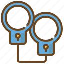 cop, justice, law, police, policeman, security, shackle icon
