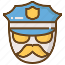 cop, justice, law, police, policeman, security icon