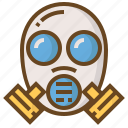 cop, gas, justice, mask, police, policeman, security icon