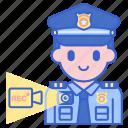 bodycam, justice, police icon