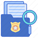 casefile, justice, law icon