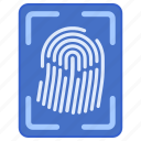 fingerprint, police, security icon