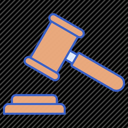 gravel, judge, justice, law icon
