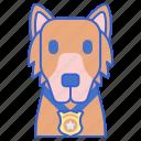 dog, k9, police icon