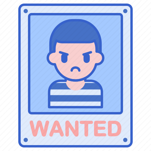 criminal, most, wanted icon