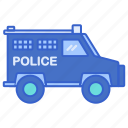 armoured, police, vehicle icon