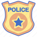 badge, justice, police icon
