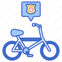 bicycle, cycling, police icon