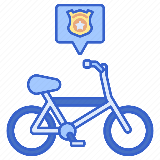 Bicycle, cycling, police icon - Download on Iconfinder