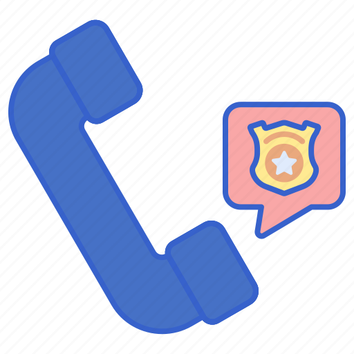 call, communication, police, telephone icon