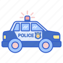 cruiser, police, vehicle icon