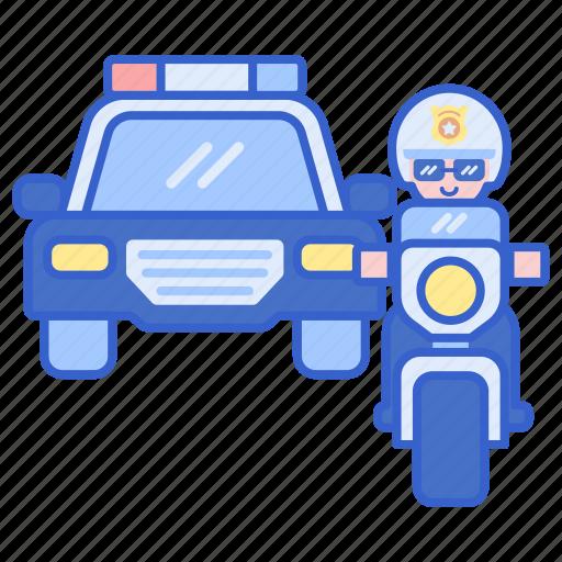 escort, justice, police, security icon