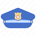 hat, justice, police, uniform