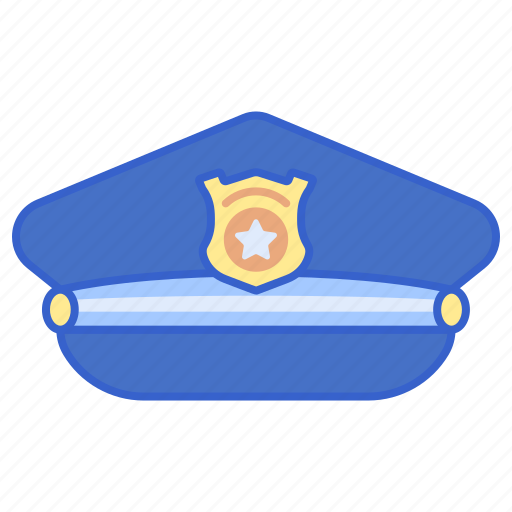 Hat, justice, police, uniform icon - Download on Iconfinder
