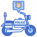 justice, motorcycle, police icon