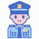 justice, law, policeman icon