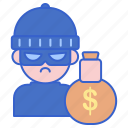 criminal, robber, thief icon