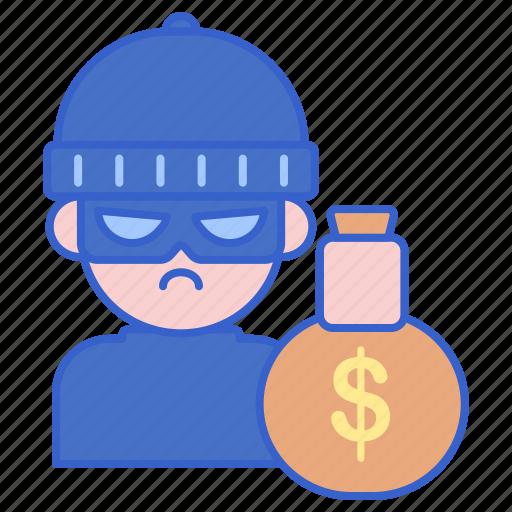 criminal, robber, thief icon