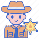 badge, justice, sheriff icon