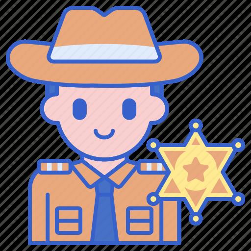 badge, justice, sheriff icon