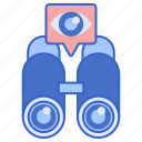 binocular, justice, stakeout icon