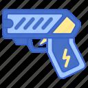 gun, police, taser icon