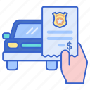 car, police, ticket, traffic icon