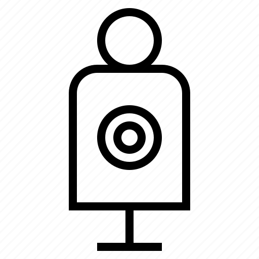 cop, crime, police, shooting, target icon